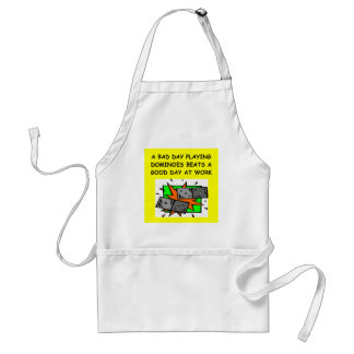 DOMINOES player Adult Apron