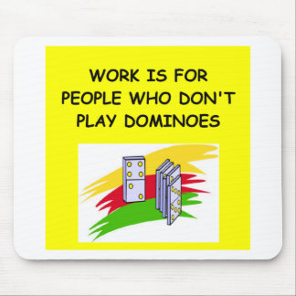 DOMINOES player Mouse Pad