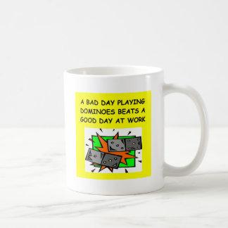 DOMINOES player Classic White Coffee Mug