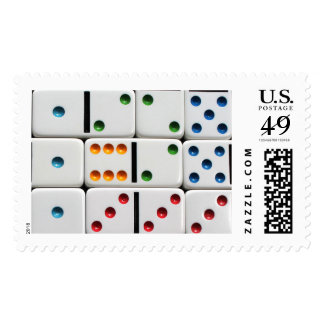 Dominoes postage stamp