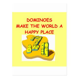 dominoes postcard