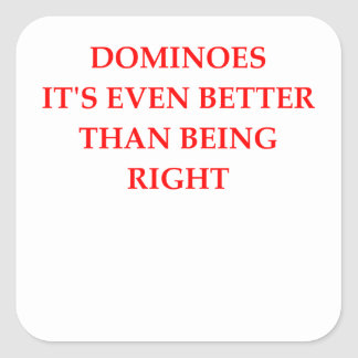 DOMINOES SQUARE STICKER
