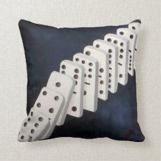 Dominoes Throw Pillow