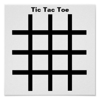 Dominoes-Tic Tac Toe TAG Grid (Fridge Magnets) Poster