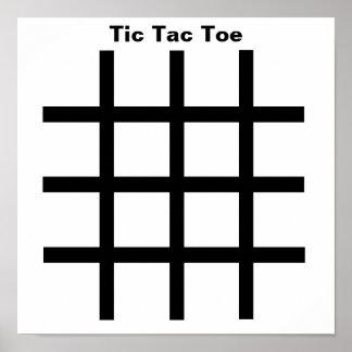 Dominoes-Tic Tac Toe TAG Grid (Fridge Magnets) Poster