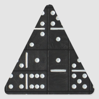 Dominoes Triangle Sticker
