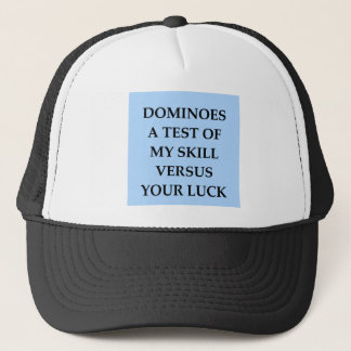 dominoes trucker hat