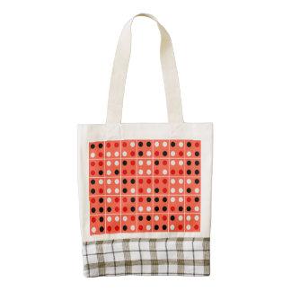 Dominoes Zazzle HEART Tote Bag