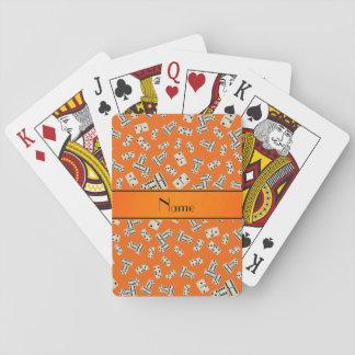 Dominós anaranjados conocidos personalizados baraja de cartas