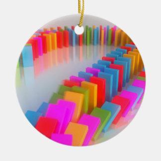 Dominos Falling II Christmas Ornaments