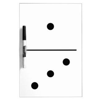Dominos Game Piece Dry Erase Whiteboards