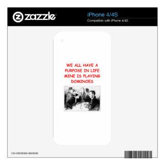 DOMINÓS iPhone 4S CALCOMANÍAS