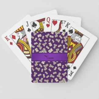 Dominós púrpuras conocidos personalizados cartas de juego