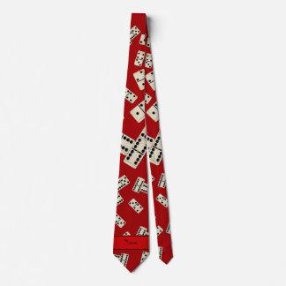Dominós rojos conocidos personalizados corbatas
