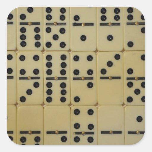 Dominos Square Sticker