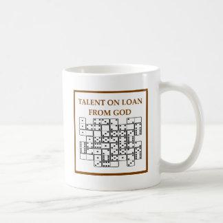 dominós tazas de café