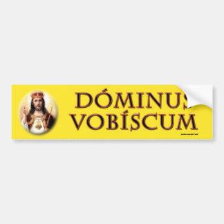 Dominus vobiscum car bumper sticker