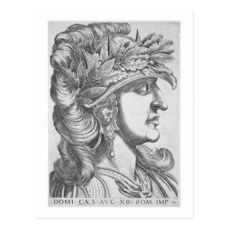 Domitian César (51-96 ANUNCIO), 1596 (grabado) Postal