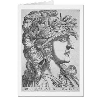 Domitian César (51-96 ANUNCIO), 1596 (grabado) Tarjeta De Felicitación