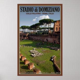 Domitian Stadium on Palatine Hill Poster