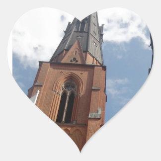 Domkyrka de Uppsala Calcomania Corazon Personalizadas