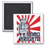 Domo Arigato 2 Inch Square Magnet