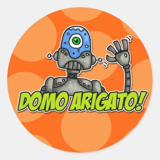 domo arigato (mr. roboto) classic round sticker