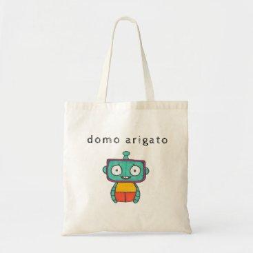 Beach Themed domo arigato mr. roboto tote bag