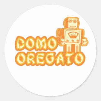 domo_oregato classic round sticker