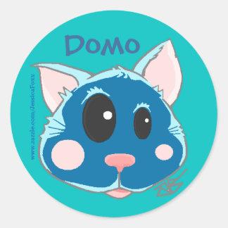 Domo The Kitty Classic Round Sticker