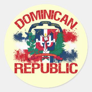 Domonican Republic Classic Round Sticker