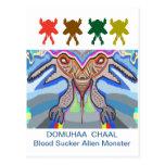 DOMUHAA  CHAAL - Blood Sucker Alien Monster Post Cards