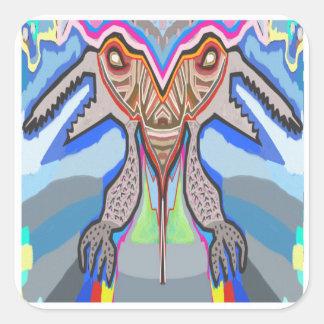 DOMUHAA  CHAAL - Blood Sucker Alien Monster Square Sticker