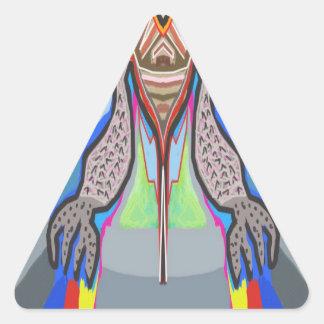 DOMUHAA  CHAAL - Blood Sucker Alien Monster Triangle Sticker