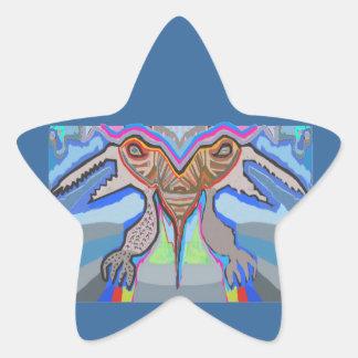 DOMUHAA CHAAL - Monstruo del extranjero del lechón Calcomanía Forma De Estrellae