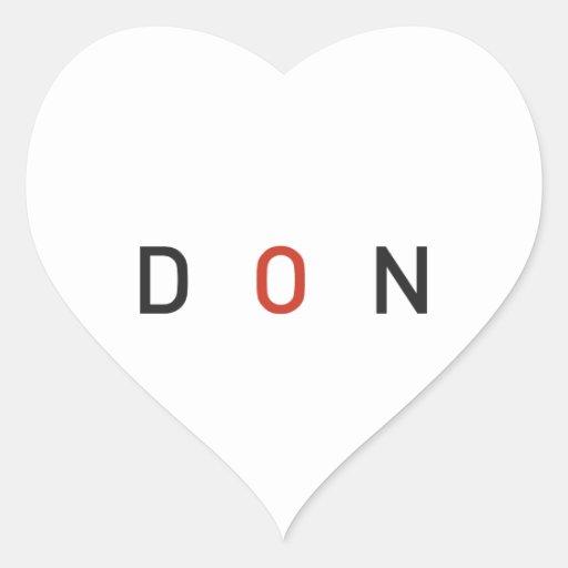 DON.ai Pegatina En Forma De Corazón