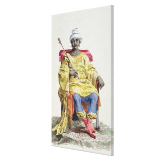 Don Alvares, King of the Congo, from 'Receuil des Canvas Print
