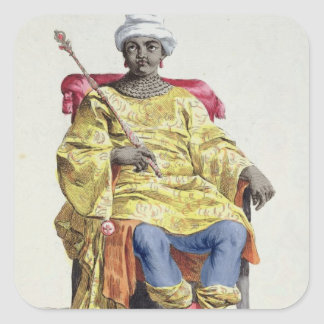 Don Alvares, King of the Congo, from 'Receuil des Square Stickers