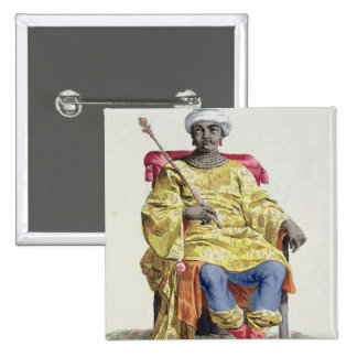 Don Alvares, rey del Congo, del 'DES de Receuil Pin Cuadrada 5 Cm