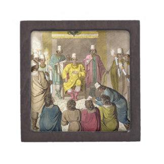 Don Álvaro, rey del congolés en su trono, p Caja De Regalo De Calidad