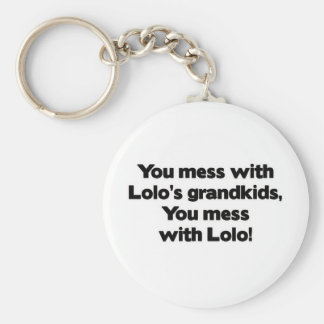 Don't Mess with Lolo's Grandkids Basic Round Button Keychain