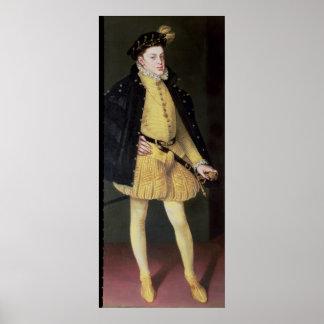 Don Carlos, hijo de rey Philip II de España Póster