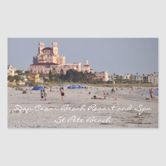 Don Cesar, St. Pete Beach Rectangular Sticker