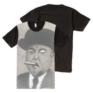 Don Charcoal with a Smoke Black and White Charcoal All-Over-Print T-Shirt