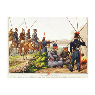 Don Cossacks in 1814 Canvas Print