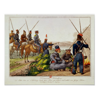 Don Cossacks in 1814 Poster