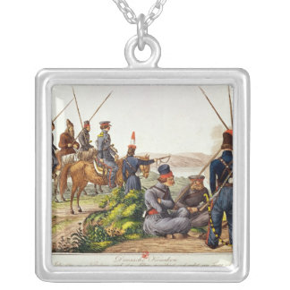 Don Cossacks in 1814 Silver Plated Necklace