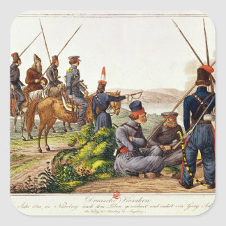Don Cossacks in 1814 Square Stickers