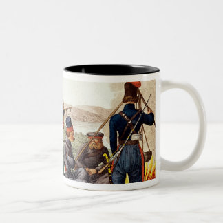 Don Cossacks in 1814 Two-Tone Coffee Mug