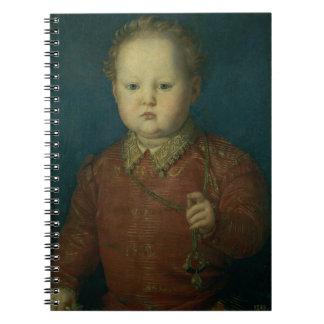 Don Garcia de Medici (?) c.1550 (oil on panel) Notebook